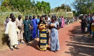 A l'accueil des autorités lors des cérémonies au Mali